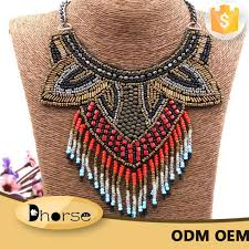 african bead necklace images Hot sell fashion handmade african beaded necklace with beads jpg