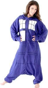 doctor who booth tardis hooded kigurumi one pajama