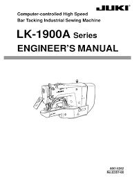 instruction manual juki lk 1900a knife