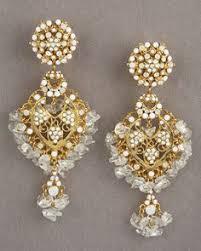 Beaded Chandelier Clip Earrings White Oscar De La Renta Gypsy Circle Hoop Earrings Neiman Marcus