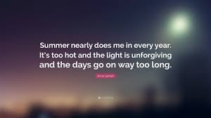 When The Lights Go On Anne Lamott Quote U201csummer Nearly Does Me In Every Year It U0027s Too