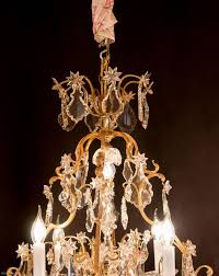 Chandelier Sign Louis Xv Style Gilt Bronze And Chandelier Sign By
