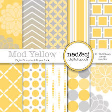 Scrapbook Paper Packs Buy 1 Get 1 Free Digital Scrapbook Paper Pack Mod Yellow