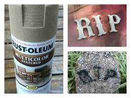 diy halloween tombstones from your kid u0027s old kickboard