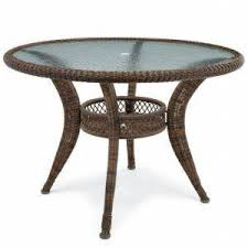 round glass and wicker patio dining table by jcpenney brown white