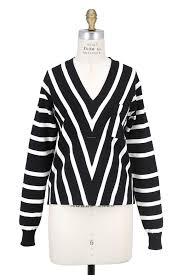 s sweater sale chloé black white striped v neck sweater salonnuvo ca