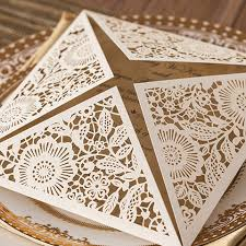 wedding invitations laser cut affordable ivory floral laser cut wedding invitations ewws017