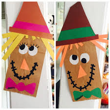 thanksgiving crafts children easy paperbag scarecrow craft work pinterest scarecrow