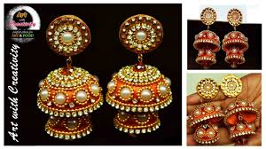 ear ring silk thread earring bridal jhumka with creativity 128