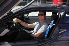 bmw dealership inside nhl player scottie upshall in his bmw i8 the stars in their