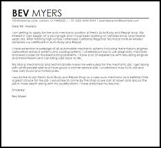 how to fix my resume sample cover letter for a mechanic job cover letters livecareer