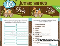 price is right baby shower jungle animals baby shower instant cupcakemakeover