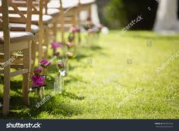 wedding set garden wedding ceremony wedding stock photo 697873333