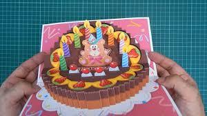 birthday cake pop up card 3 original designs youtube