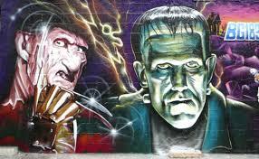 watch our massive marvel avengers graffiti mural by the graffiti kings horror graffiti and street art 11