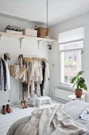 Small Bedroom With No Closet No Closet In Bedroom Solutions Before After A Creative Solution