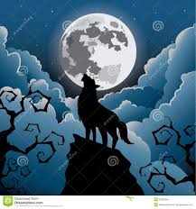 wolf howling at the moon stock illustration illustration of cloud