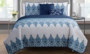 reversible quilt set collection 4 or 5 groupon