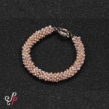 pink pearl bracelet images Seed pearl bracelet in dark pink pearls jpg