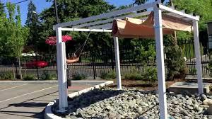 aleko 10 x 10 feet pergola outdoor canopy youtube
