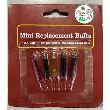 replacement bulbs for mini lights colors
