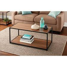 walmart com coffee table mainstays metro coffee table warm ash finish walmart com my