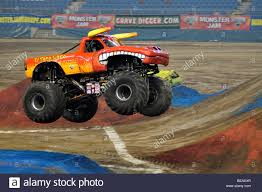 monster truck show melbourne monster jam el toro loco with damon bradshaw driver stock photo