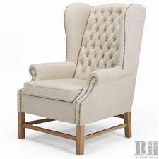 linen chair millard tufted beige linen wing back club chair wholesale bright