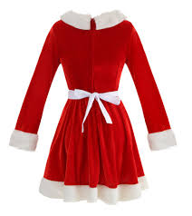 christmas cocktails vintage women u0027s long sleeve mrs santa claus christmas party swing dress