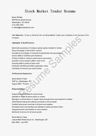Example Of Cover Letter Resume by Money Market Trader Cover Letter