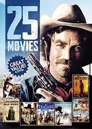 amazon com 25 movies western movies tom selleck john wayne