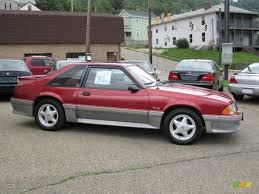 ford mustang gt 1992 strawberry metallic 1992 ford mustang gt hatchback exterior
