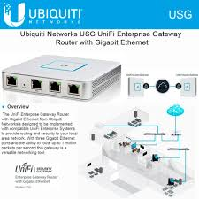 ubiquiti networks unifi security gateway router usg w gigabit