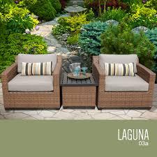 Green Wicker Patio Furniture - tk classics laguna 3 piece outdoor wicker patio furniture set 03a
