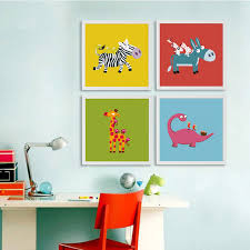 Aliexpresscom  Buy New Kawaii Animals Canvas Painting Cartoon - Painting for kids rooms