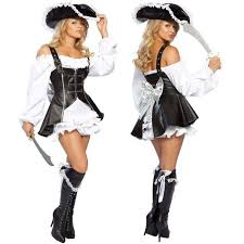 Woman Black Halloween Costume Punk Pirate Costume Women Party Halloween Costumes Women