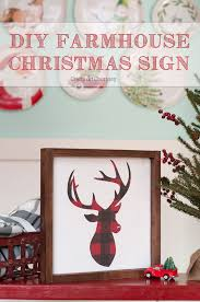 diy christmas sign u2013 farmhouse style scrap holidays and paper