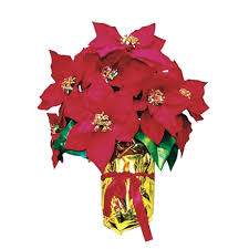Outdoor Christmas Decorations Ace Hardware by Celebrations Poinsettia Plant 16 Gold Foil Red Bowo900109ace