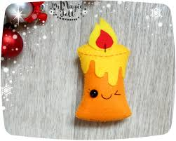 christmas ornaments candle felt ornament for christmas tree
