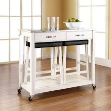 castleton home kitchen island cart with stainless steel top
