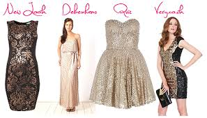 christmas dresses silver gold black sequin fashion party