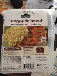 composition du sel de cuisine langue de boeuf sauce piquante et coquillettes bocaron