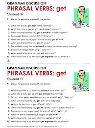 Verb Phrases Worksheets English Grammar Phrasal Verbs With U0027get U0027 Www Allthingsgrammar Com