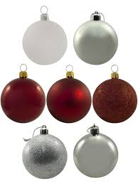 red white u0026 silver baubles 12 x 60mm christmas decorations
