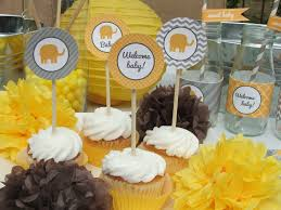 Baby Showers Decorations by Yellow Gray Baby Shower Decorations