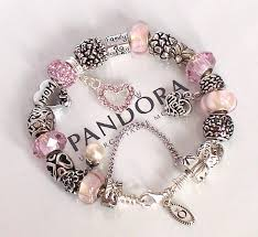 love pandora bracelet images Authentic pandora silver charm bracelet mothers day love mom pink jpg