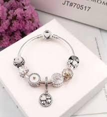 white charm bracelet images Crystal white love theme pandora charm bracelet jpg