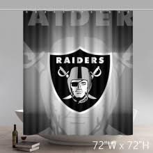 Oakland Raiders Curtains Symbol Bathroom Shower Curtains