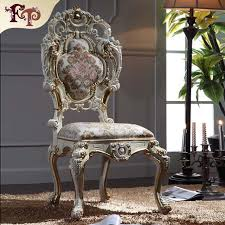 Style Dining Chairs Luxury Italian Style Dining Chairs Solid Wood Carved Chair In
