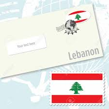 Country Flag Images Lebanon Envelope Design With Country Flag Stamp And Postal
